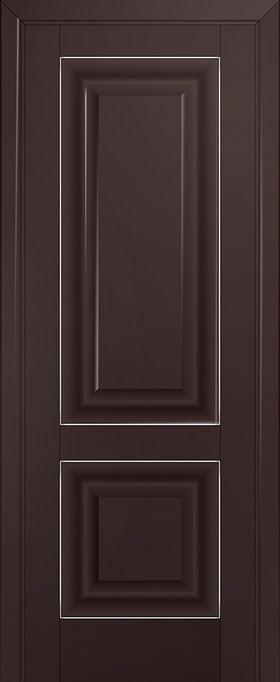 Дверь Тёмно-коричневый матовый №27U 2000*600 серебро ЗСЗ купить в интернет-магазине Чайна-строй