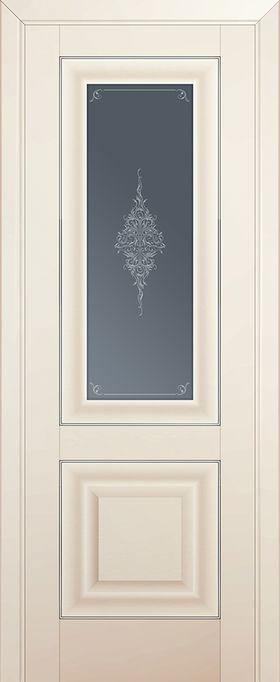 Дверь Магнолия сатинат №28U 2000*700 серебро стекло кристалл графит ЗСЗ купить в интернет-магазине Чайна-строй