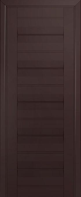 Дверь Тёмно-коричневый матовый №48U 2000*600 стекло графит ЗСЗ купить в интернет-магазине Чайна-строй