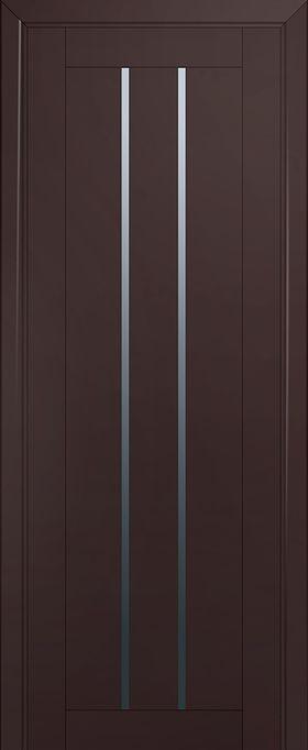Дверь Тёмно-коричневый матовый №49U 2000*800 стекло графит купить в интернет-магазине Чайна-строй