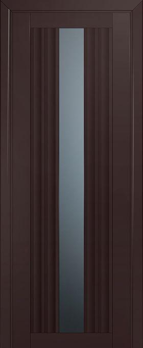 Дверь Тёмно-коричневый матовый №53U 2000*600 стекло графит ЗСЗ купить в интернет-магазине Чайна-строй